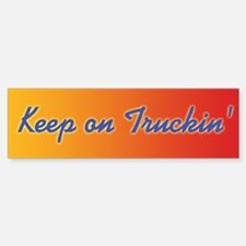 Retro Keep On Truckin Sticker (Bumper)