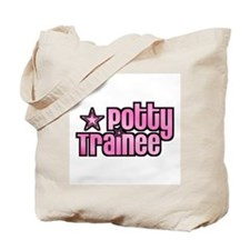 Potty Trainee Pink Girl Tote Bag