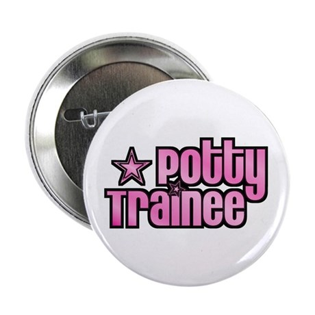 """Potty Trainee Pink Girl 2.25"""" Button (100 pack)"""
