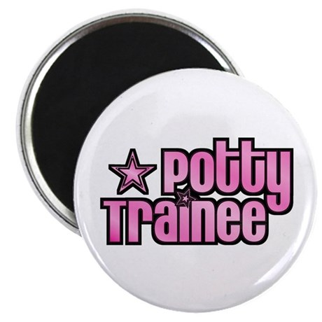 """Potty Trainee Pink Girl 2.25"""" Magnet (100 pack)"""