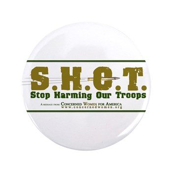 """S.H.O.T. Campaign 3.5"""" Button (100 pack)"""