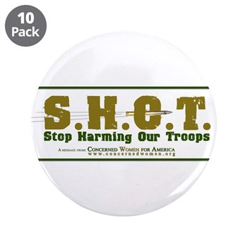 """S.H.O.T. Campaign 3.5"""" Button (10 pack)"""