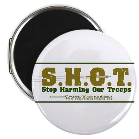 "S.H.O.T. Campaign 2.25"" Magnet (100 pack)"