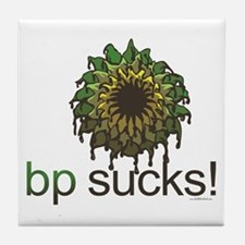 bp is Stupid Tile Coaster