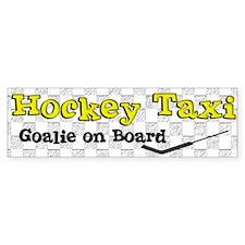 Hockey Taxi Goalie on Board Bumper Bumper Stickers