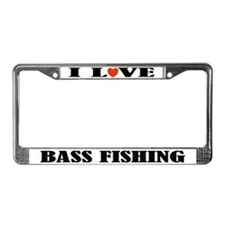 I Love Bass Fishing License Plate Frame