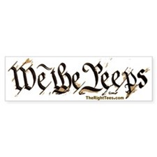 2-WePeeps-TEXT-BUMP Bumper Bumper Sticker