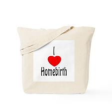 i [heart] Homebirth Tote Bag