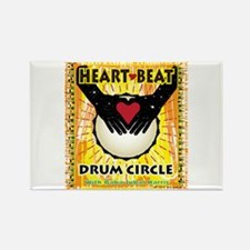 Unique Drum circle Rectangle Magnet