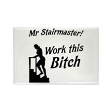 Mr Stairmaster (Bitch) Rectangle Magnet