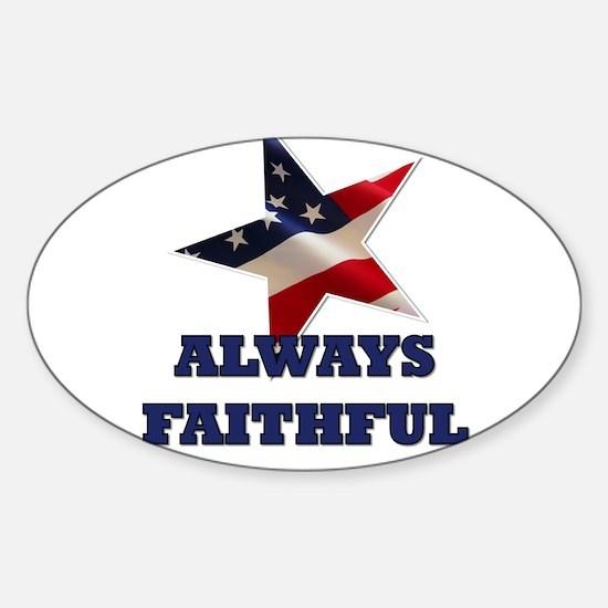 Always Faithful Sticker (Oval)