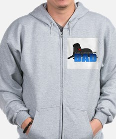 Black Labrador Retriever Dad Zip Hoodie