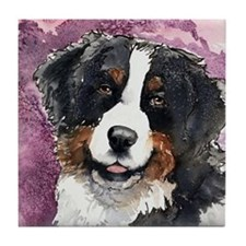 "Bernese Mt. Dog ""Eyes Of Trus Tile Coaster"