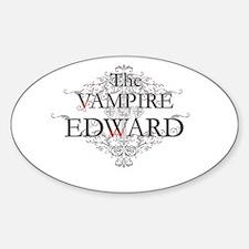 The Vampire Edward Sticker (Oval)