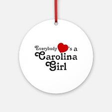 Everybody Hearts a Carolina G Ornament (Round)