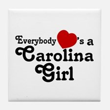 Everybody Hearts a Carolina G Tile Coaster