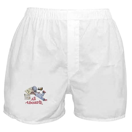 Train and Railroad Fanatic Boxer Shorts