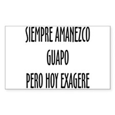 Para Guapos Rectangle Decal