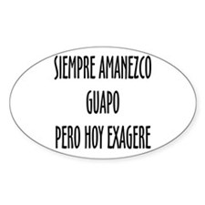 Para Guapos Oval Decal