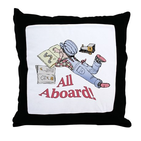 Train and Railroad Fanatic Throw Pillow