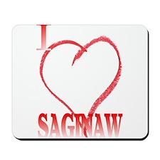 I LOVE SAGINAW Mousepad