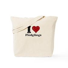 I heart Fledglings Tote Bag