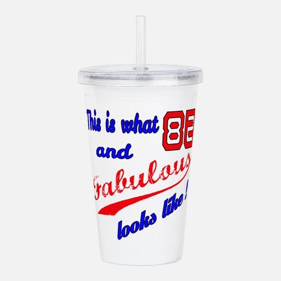 This Is what 82 and Fa Acrylic Double-wall Tumbler