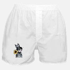 Sunflower Schnauzer Boxer Shorts