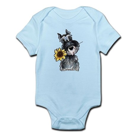 Sunflower Schnauzer Infant Bodysuit