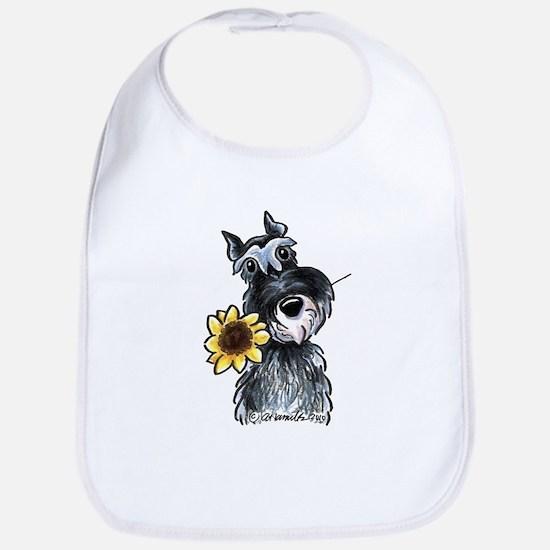 Sunflower Schnauzer Bib