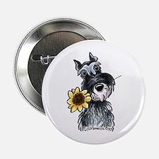 """Sunflower Schnauzer 2.25"""" Button"""