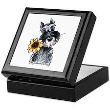 Sunflower Schnauzer Keepsake Box