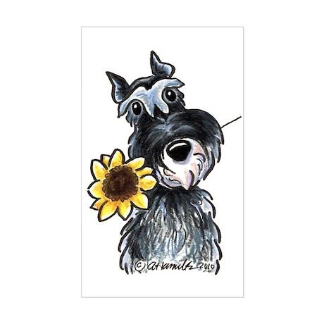 Sunflower Schnauzer Sticker (Rectangle)