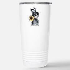 Sunflower Schnauzer Travel Mug