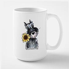 Sunflower Schnauzer Large Mug
