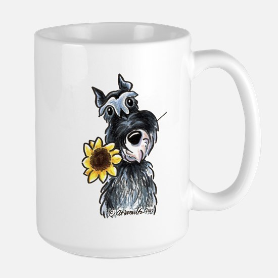 Sunflower Schnauzer Large Mug