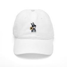 Sunflower Schnauzer Baseball Cap