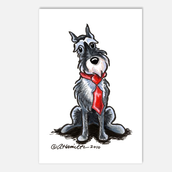 Schnauzer Dad Postcards (Package of 8)