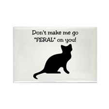"Go ""FERAL"" Rectangle Magnet"