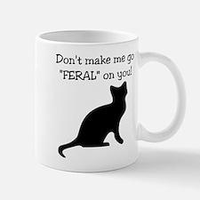"Go ""FERAL"" Small Small Mug"