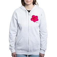 Petunia Flower Zip Hoodie