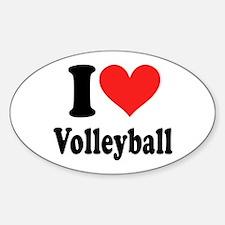 I Heart Volleyball: Sticker (Oval)