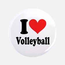 """I Heart Volleyball: 3.5"""" Button (100 pack)"""