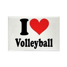 I Heart Volleyball: Rectangle Magnet