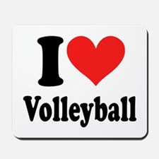 I Heart Volleyball: Mousepad
