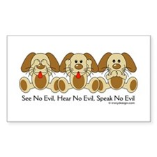 See No Evil Puppy Dogs Decal