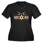 MCSO Radio Posse Women's Plus Size V-Neck Dark T-S