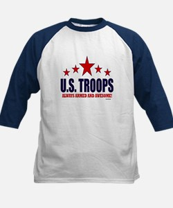 U.S. Troops Always Armed And Kids Baseball Jersey