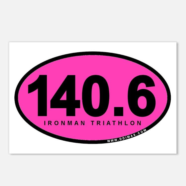 140.6 Ironman Triathlon Postcards (Package of 8)