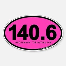 140.6 Ironman Triathlon Sticker (Oval 10 pk)